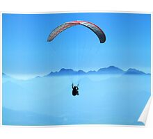 Mountain Paragliding, HD Photograph Poster