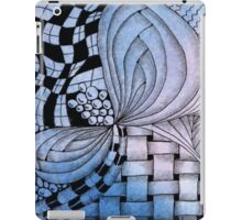 Zentangle Inspired Blue Tile. iPad Case/Skin