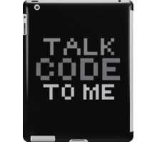 Talk code to me iPad Case/Skin