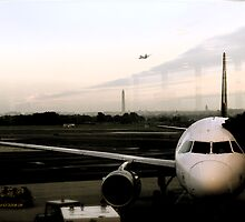 Washington Monument at Dawn, from the Airport Window  © 2008 by Jack McCabe