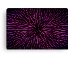 Pink Fire Flower Abstract Canvas Print