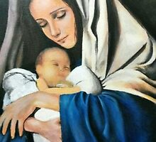 Mary & Baby Jesus by daeunleeart