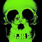 Skull Kiss - Life & Death Optical Illusion Art by apeape