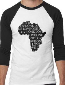 AFRICA ONE LOVE Men's Baseball ¾ T-Shirt