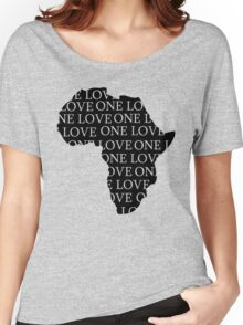 AFRICA ONE LOVE Women's Relaxed Fit T-Shirt