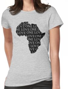 AFRICA ONE LOVE Womens Fitted T-Shirt