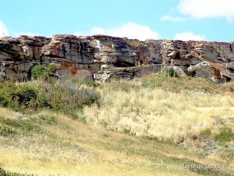 The Buffalo Jump Cliffs by George Cousins