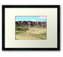 The Buffalo Jump Cliffs Framed Print