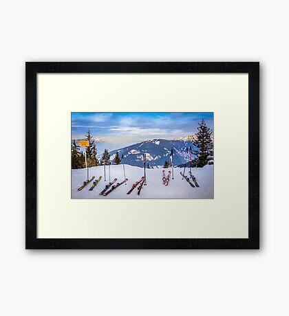 Skis Framed Print
