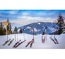 Skis Photographic Print