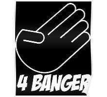 4 Banger Decal (Black) Poster