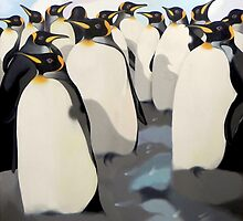 14 penguins by federico cortese