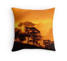 Heatwave Sunset, Krambach, NSW, Australia. Throw Pillow