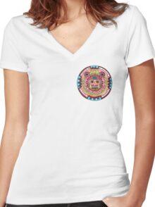 Azteca Women's Fitted V-Neck T-Shirt