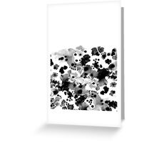 Mona - Black and White Painted Spots, painterly, abstract, monochrome cell phone case Greeting Card