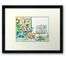 FOUR LITTLE SKELETONS PLAYING VIDEOGAMES(MULTIPLAYER STYLE) Framed Print