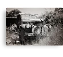 Chev 1946 - Black & White Canvas Print