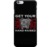 """Get Your Hand Raised"" - Jiu Jitsu Bulldog iPhone Case/Skin"