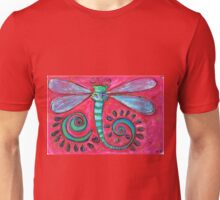 A Funky Dragonfly Unisex T-Shirt