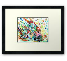 MOTOR DEMON with BUTTERFLIES Framed Print