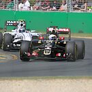 Romain Grosjean  & Valtteri Bottas by Stuart Daddow Photography