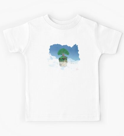 Lonely tree in the clouds Kids Tee