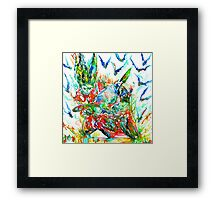 MOTOR DEMON with BATS Framed Print