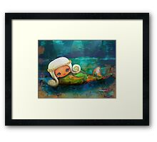 CHUNKIE Mermaid Framed Print