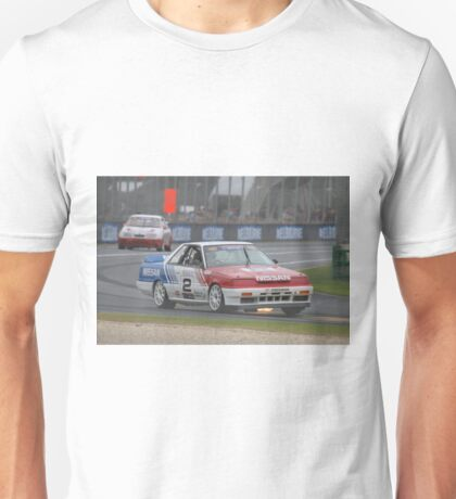 Jim Richards Flame Throwing Nissan Skyline Unisex T-Shirt