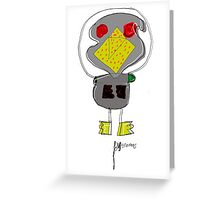 Evil duck Greeting Card
