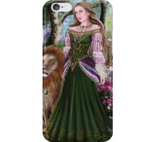 Queen of lions fairy fantasy,medieval lady  iPhone Case/Skin