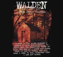 Walden by Henry David Thoreau Designs by OutlawOutfitter