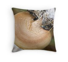 mushrooms on the birch trunk (Ganoderma applanatum). Throw Pillow