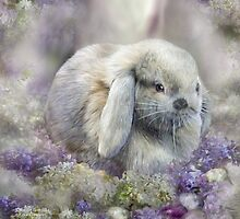 Bunny In The Easter Lilacs by Carol  Cavalaris