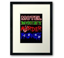 The Doors LA Woman Motel Money Murder Madness Design Framed Print