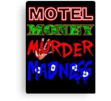 The Doors LA Woman Motel Money Murder Madness Design Canvas Print