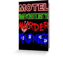 The Doors LA Woman Motel Money Murder Madness Design Greeting Card