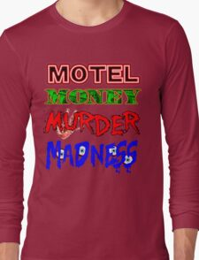 The Doors LA Woman Motel Money Murder Madness Design Long Sleeve T-Shirt