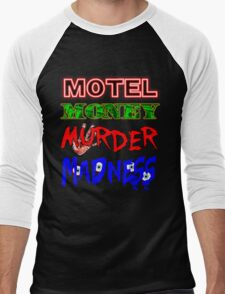 The Doors LA Woman Motel Money Murder Madness Design Men's Baseball ¾ T-Shirt
