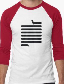 (Very) Long Dog Men's Baseball ¾ T-Shirt