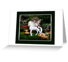 White Beauty And Heart Angel Framed Greeting Card