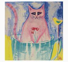 Cat in a Tea Cup Kids Tee