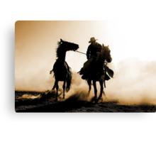 Rodeo Silhouette Canvas Print