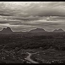 The Assynt mountains in the Scottish Highlands. by David Alexander Elder