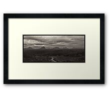 The Assynt mountains in the Scottish Highlands. Framed Print