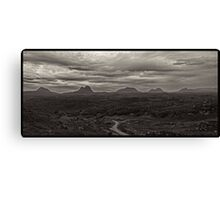 The Assynt mountains in the Scottish Highlands. Canvas Print