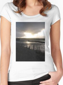 Cape Liptrap bright sunset on water after rain Women's Fitted Scoop T-Shirt