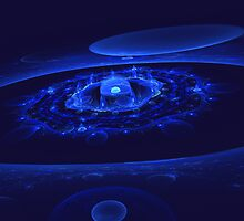 Apophysis -- Blue CosmosScape by Hypnogoddess