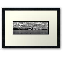 Panorama of The Forth Bridge, Scotland Framed Print