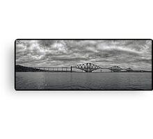 Panorama of The Forth Bridge, Scotland Canvas Print